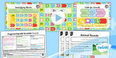 PlanIt - Computing Year 1 - Programming with ScratchJr Lesson 5: Sounds Lesson Pack