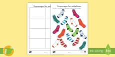 Ficha de actividad: Emparejar los calcetines