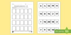 Ordonează numerele în concentrul 0- 20 - Joc