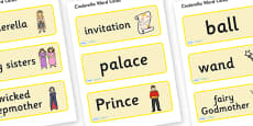 Cinderella Word Cards