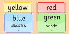 Colour Signs EAL Romanian Translation