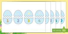 * NEW * Easter Egg Dots to 10 Matching Game