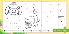 Easter Dot to Dot Activity Sheets Arabic/English