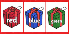 Colour Words on Christmas Presents