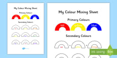 Colour Mixing Activity Sheet