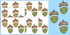 2 - 12 Times Tables Acorn Matching Activity Pack