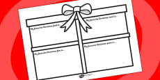 Christmas Favourites Writing Activity Sheet