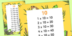 10 Times Table Display Poster