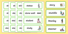 Two Syllable 'st' Blend Word Cards