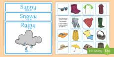 Weather Clothes Sorting Activity English/Mandarin Chinese