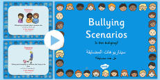 Bullying Scenarios and Information PowerPoint Arabic Translation