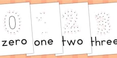 Dot to Dot Numbers 0-5