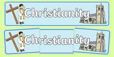 Christian Church Display Banner