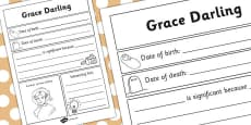 Grace Darling Significant Individual Writing Frame
