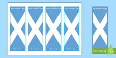 Saint Andrew's Day Scottish Flag Bookmarks