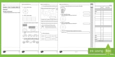 * NEW * Semester 1 Year 4 Maths Fractions Test
