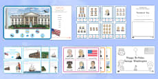 * NEW * Presidents' Day Early Childhood Printable Resource Pack