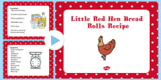 Little Red Hen Bread Rolls EYFS Recipe PowerPoint