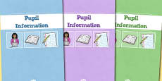 A4 Pupil Information Divider Covers
