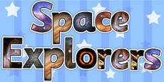 Space Explorers Photo Display Lettering