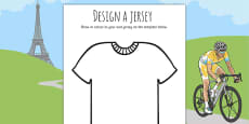 Tour de France Jersey Designing Activity Sheet