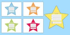 My Goals Pupil Target Stars Mandarin Chinese Translation