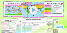 PlanIt - Geography Year 3 - Rainforests Lesson 2: The Rainforest Climate Lesson Pack