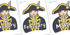 Months of the Year on Admirals