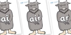 Phase 3 Phonemes on Wild Thing (3) to Support Teaching on Where the Wild Things Are