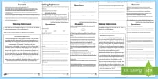 * NEW * KS2 Original Story World Book Day UK Differentiated Inference Activity Sheets
