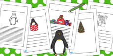 Monty the Penguin Writing Frames