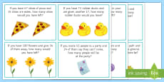 * NEW * Addition and Subtraction Challenge Cards