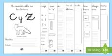 * NEW * Cuadernillo de lecto: La C/Z Cuadernillo de lengua
