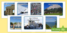 * NEW * Germany Tourist Attractions Display Photos German