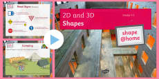 Shape at Home 2D and 3D shapes (GCSE grades 1-5) PowerPoint