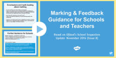 School Marking Guidance Update PowerPoint