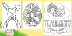 Extra Large Easter Colouring Pages