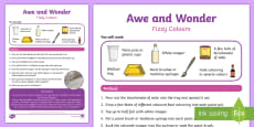 Fizzy Colours Awe and Wonder Science Activity