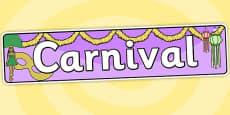 Carnival Themed Banner