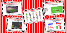 Word Cup Maths Challenge Cards KS1