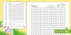 French Easter (Pâques) Word Search