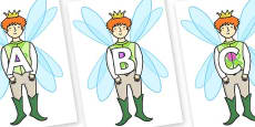 A-Z Alphabet on Fairy Prince