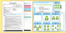 Five Little Speckled Frogs Parachute Activity EYFS Adult Input Plan and Resource Pack