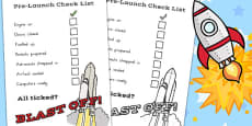 Space Travel Pre-Launch Check List (Australia)