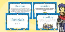 Hanukkah Display Fact Cards