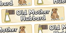 Old Mother Hubbard Display Banner