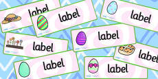 Easter Drawer Peg Name Labels
