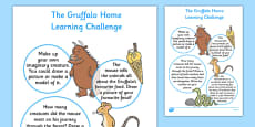 EYFS Home Learning Challenge Sheet to Support Teaching The Gruffalo Nursery FS1