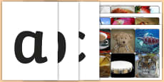 Phase 2 Letters with Matching Initial Sounds Photographs
