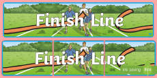 Sports Day Finish Line Banner